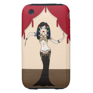Gothic Tribal Fusion Bellydancer in Stage Scene Tough iPhone 3 Case