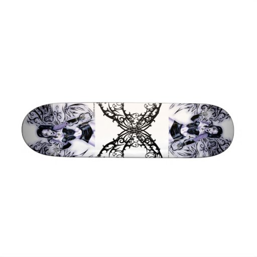 gothic_tribal_wings_by_tocatl, gothic_tribal_wi... custom skateboard