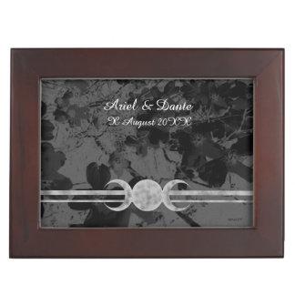 Gothic Triple Moon Handfasting Cord Box