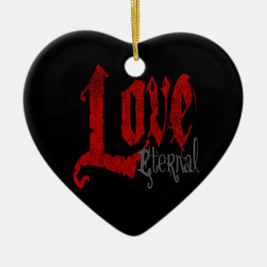 Gothic Valentines Day Ornament Love Eternal