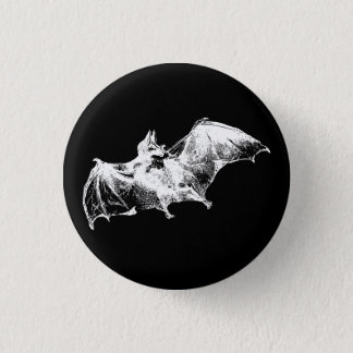 GOTHIC VAMPIRE BAT 3 CM ROUND BADGE