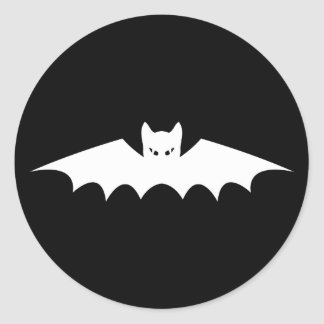 Gothic Vampire Bat Cat Classic Round Sticker