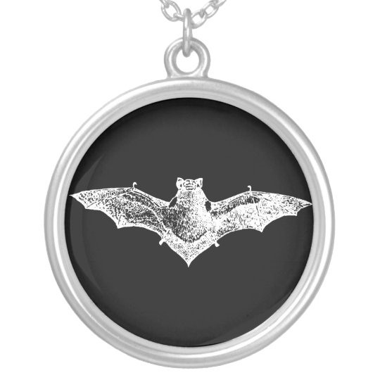 Gothic Vampire Bat Sterling Silver Necklace