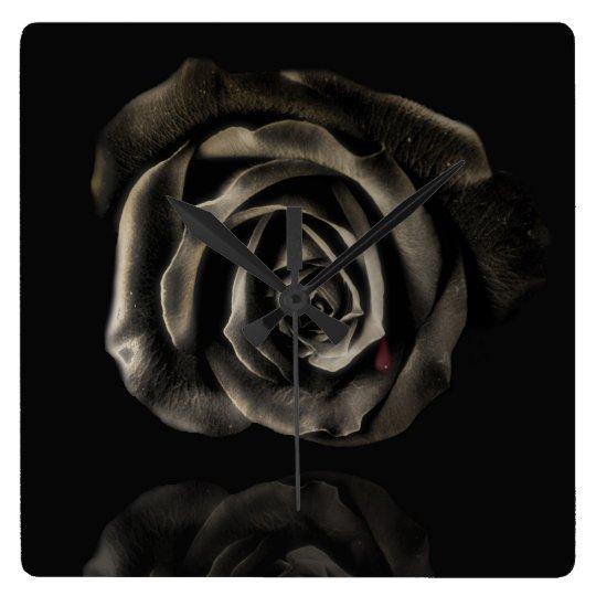 Gothic Vampire Black rose clock