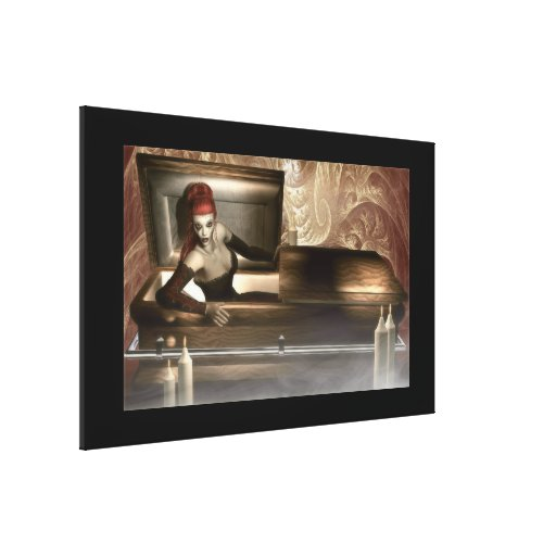 Gothic Vampire Stretched Canvas Print