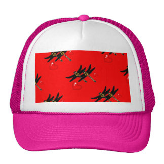 Gothic Vampire Dragonflies by Sharles Mesh Hats