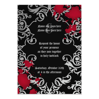 Gothic vampire Halloween wedding Card
