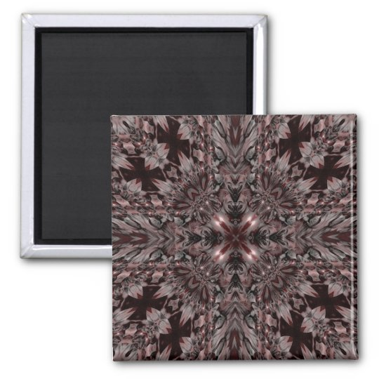 Gothic vampire kaleidoscope square magnet