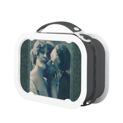 Gothic Vampire Romance Dracula and Lover Victorian Lunchbox