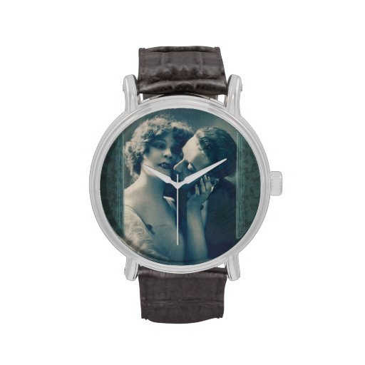 Gothic Vampire Romance Dracula and Lover Victorian Wristwatch