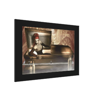 Gothic Vampire Stretched Canvas Prints