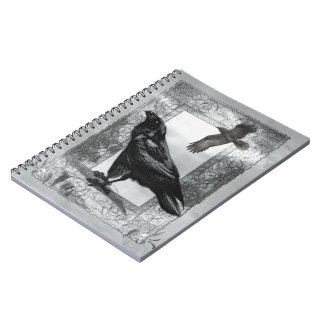 Gothic Victorian Raven Fantasy Art Notebook