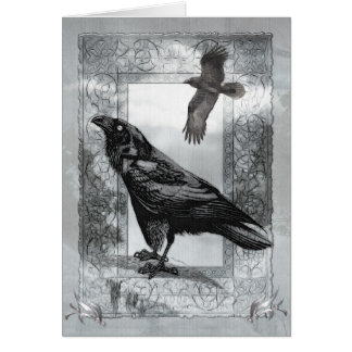 Gothic Victorian Raven Fantasy BLANK Stationary Note Card