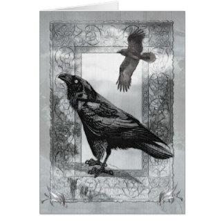 Gothic Victorian Raven Fantasy BLANK Stationary Card
