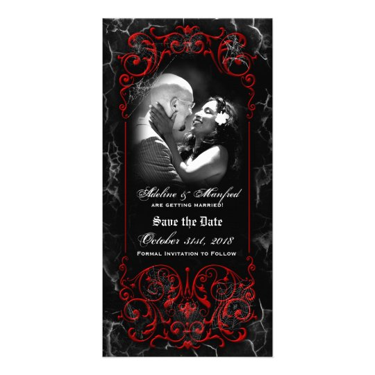 Gothic Victorian Spooky Red Custom Save the Date