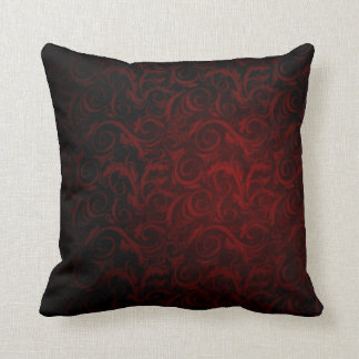 Gothic Victorian Vampire Pattern Throw Pillow