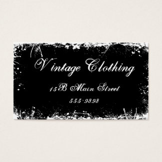 Gothic Vintage Black Business Card