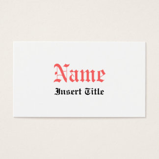 Gothic Vintage Business Card