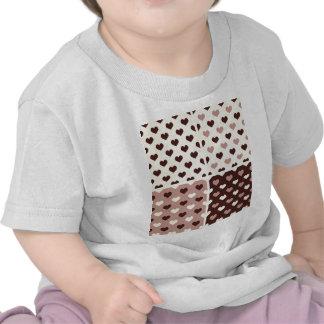 gothic vintage heart polka dot pattern retro girly tee shirt