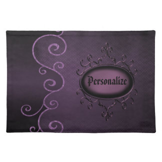 Gothic Vintage  Purple Personalized  Placemat