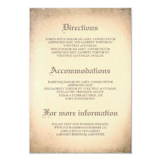 Gothic Vintage Wedding Details - Information 9 Cm X 13 Cm Invitation Card