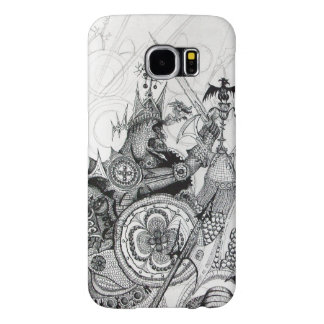 GOTHIC WARRIORS Black White Fantasy Samsung Galaxy S6 Cases
