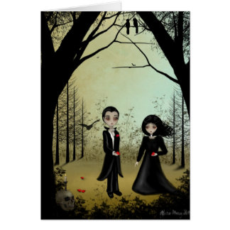 Gothic Wedding Save the Date Card