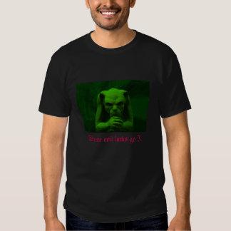 """Gothic, """"Where evil lurks go I"""" men's t-shirt"""