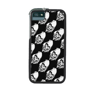 Gothic White Reaper face on black background Cover For iPhone 5/5S
