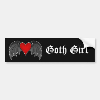 Gothic winged heart Valentines Day Bumper Stickers
