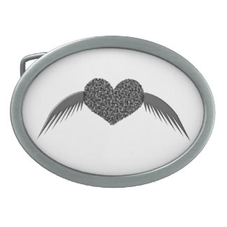 Gothic Winged Love Heart Belt Buckle