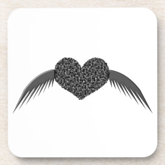 Gothic Winged Love Heart Coaster