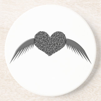 Gothic Winged Love Heart Coasters