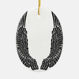 Gothic Wings Ceramic Oval Decoration