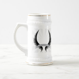 Gothic Wings Crest Design Coffee Mugs