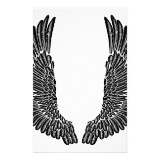 Gothic Wings Personalised Stationery