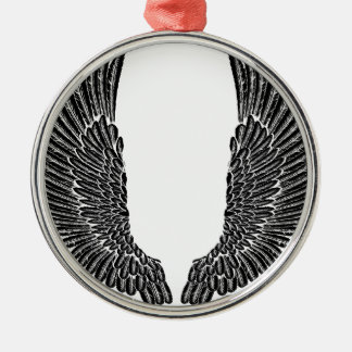 Gothic Wings Silver-Colored Round Decoration