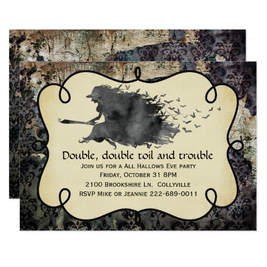 Gothic Witch Halloween Party Invitation