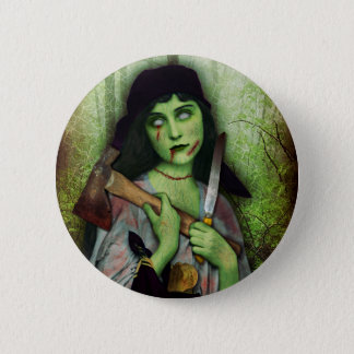 Gothic Zombie Girl Halloween Horror 6 Cm Round Badge