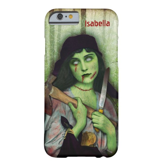 Gothic Zombie Girl Halloween Horror Name Barely There