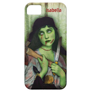 Gothic Zombie Girl Halloween Horror Name iPhone 5 Case