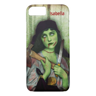 Gothic Zombie Girl Halloween Horror Name iPhone 7 Case