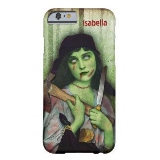 Gothic Zombie Girl Halloween Horror Name iPhone 6 Case