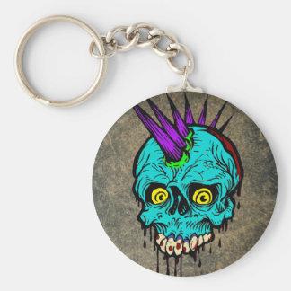 Gothic Zombie Punk Skull Key Ring