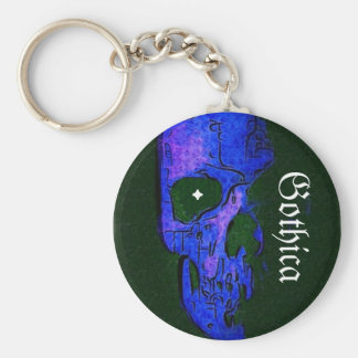 Gothica, . basic round button key ring