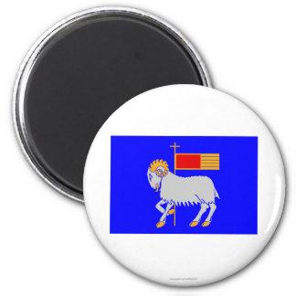 Gotlands län flag 6 cm round magnet