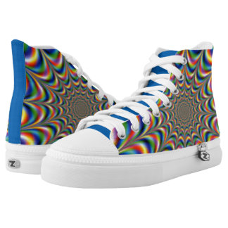 GoToLighthouse Rainbow Optical Illusion High Tops