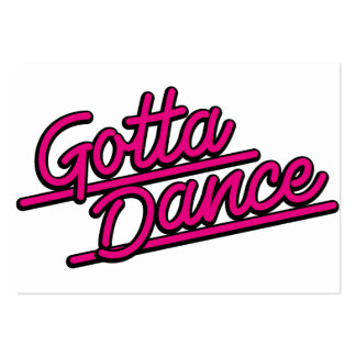 Gotta Dance in magenta Business Card