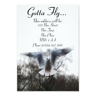 Gotta Fly - New Address Cards 13 Cm X 18 Cm Invitation Card