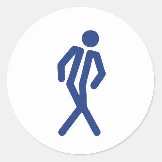 Gotta Go (Men) Round Sticker